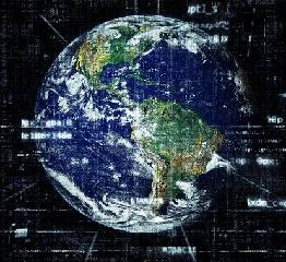A Föld bolygó képe, internet